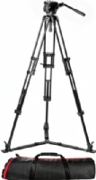 Manfrotto 504HD,546GBK 2-Stage Ground Spreader Aluminum Pro Video Tripod Kit