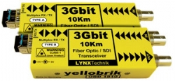 OBD 1810 - 3Gbit Bidirectional SDI/Fiber Transceiver- 10km (Pair) - 1310nm and 1550nm (WDM)